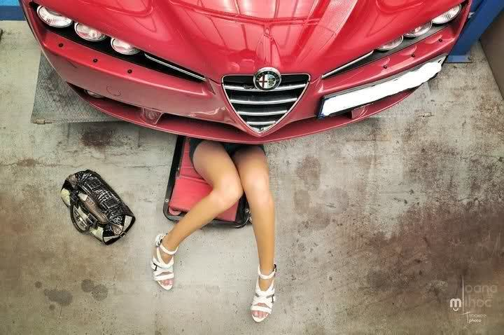 TO DO. Alfa 159 girl mechanic