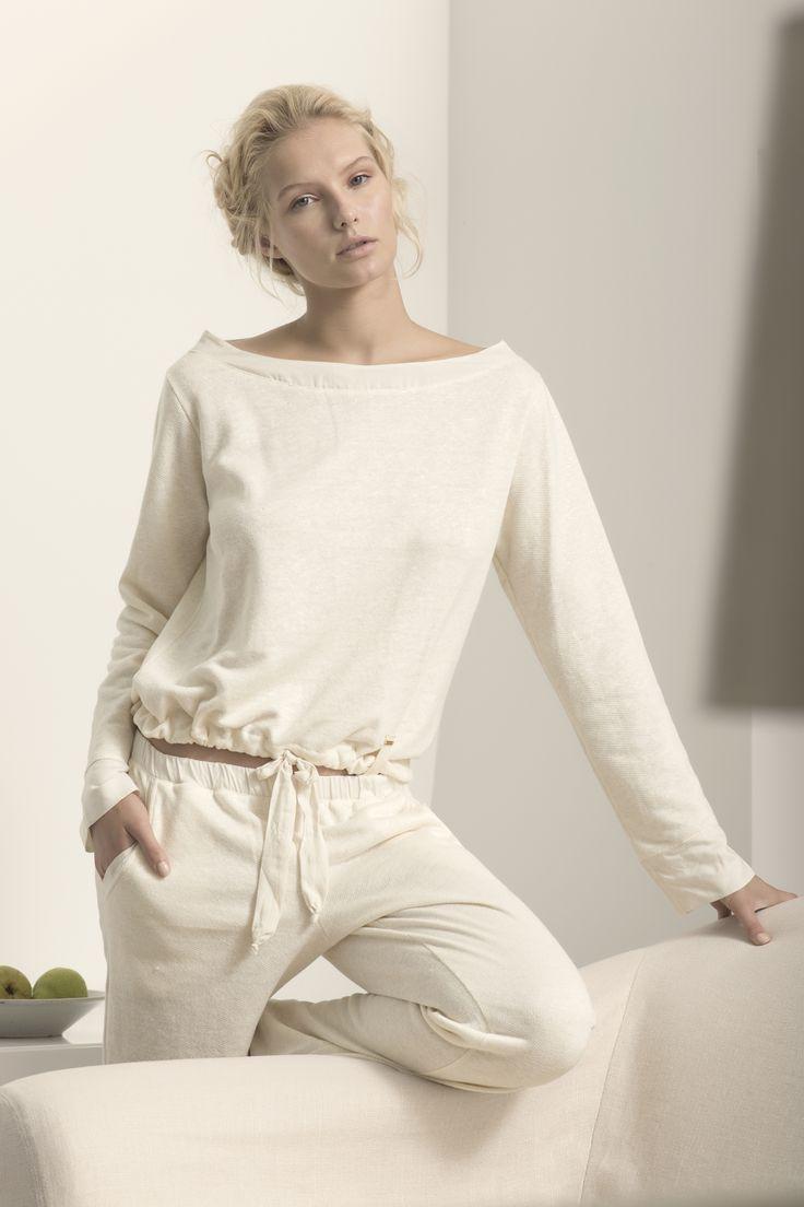Touche Collection Lingerie / Off White Pajama www.touche.com.co Gintare Sudziute