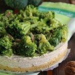 Cheesecake salata con broccoli e pancetta