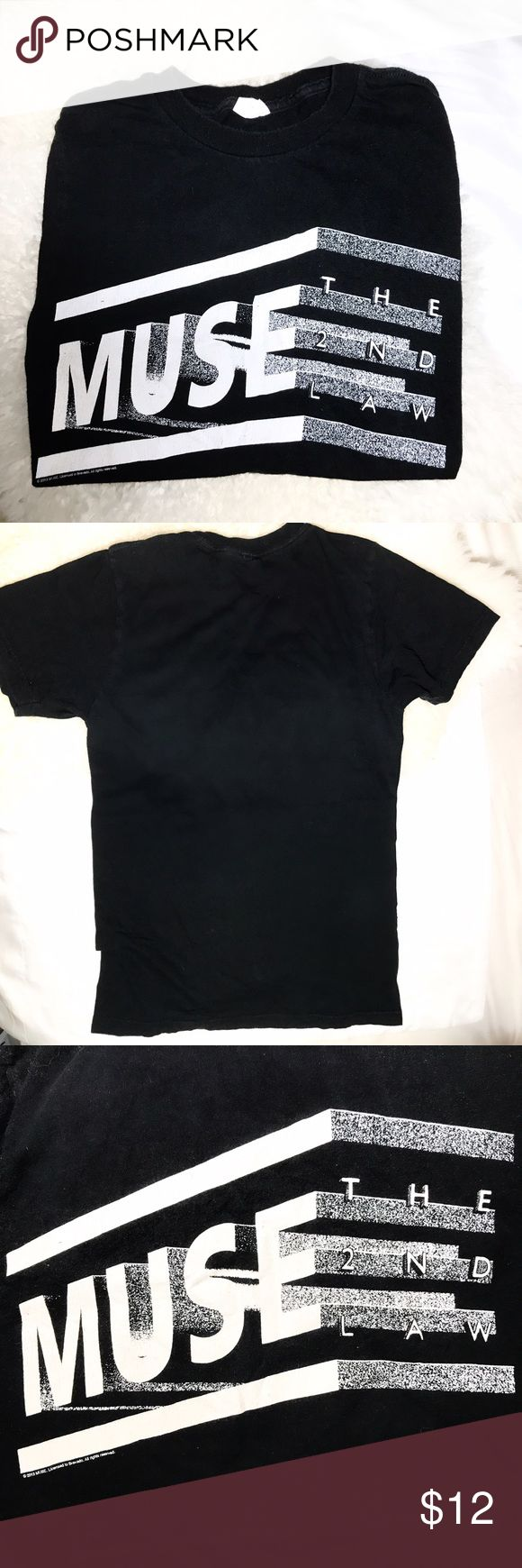 HOT TOPIC Muse The 2nd Law Band T-Shirt This t-shirt is a band t-shirt for the band Muse promoting their album, The 2nd Law. This shirt was purchased at Hot Topic, and though it was well-loved, is in quite good condition. This shirt is a size Small. Tops Tees - Short Sleeve