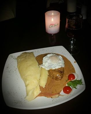 Yummy - Portuguese Steak & Egg with Mash in wine & Paprika sauce
