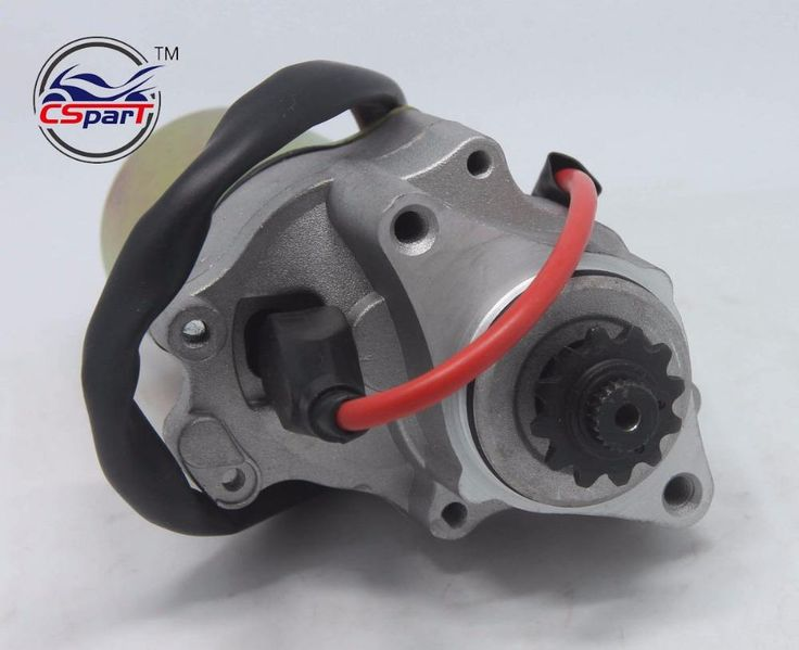 2 Bolt Lower Electric Starter Motor for 50cc 70cc 90cc 110cc 125cc Dirt Pit Bike Atv Quads Go Kart Buggy 4-Stroke Engine