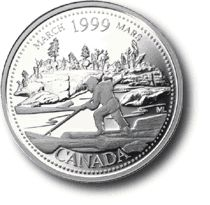 Kanadische Münzsammlung: März – 1999 Millenium C …