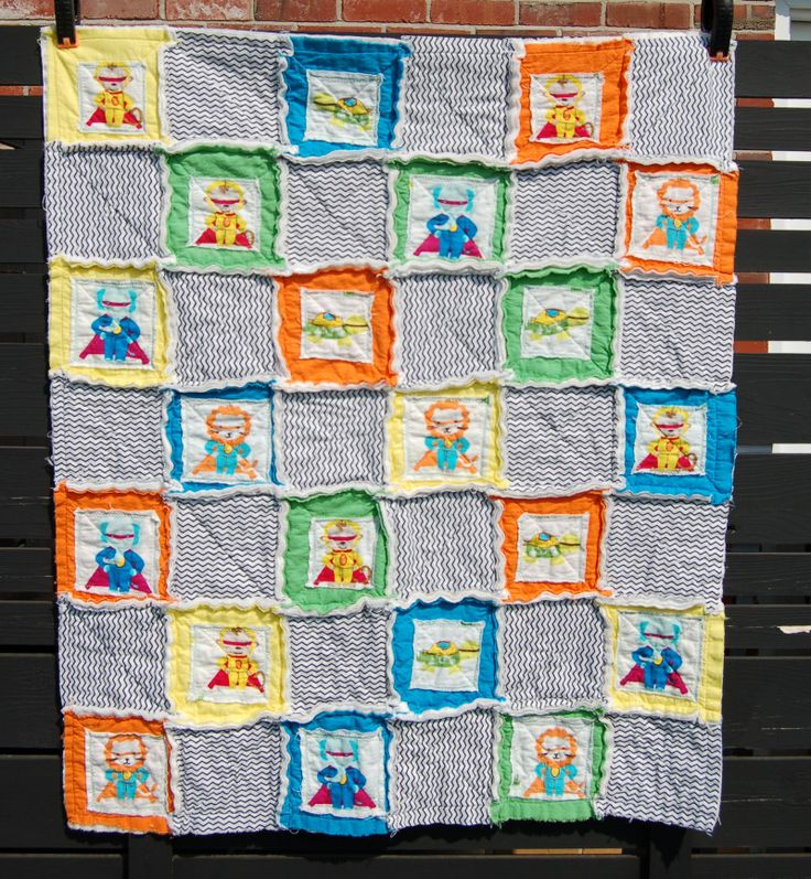 Rag Quilt Ideas Pinterest : Make a rag quilt! Simple tutorial & a super simple chart to show you how many squares to cut ...
