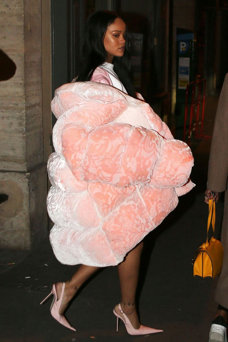 Rihanna Wore Her Own Baby Pink Inflatable Couch Outside