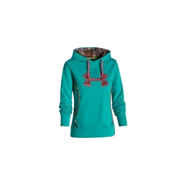 Under Armour Misses' Storm Caliber Hoodie - Gazebo Green ❤ liked on Polyvore featuring tops and hoodies