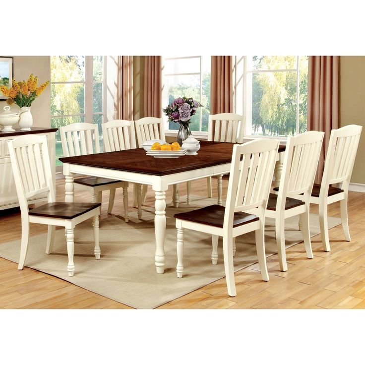 Furniture of America Bethannie 9-Piece Cottage Style Dining Set - Free Shipping Today - Overstock.com - 17088111 - Mobile