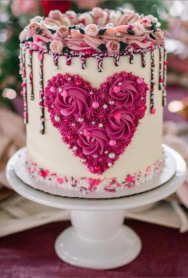 30 Creative Valentine S Day Cake Designs Lily Fashion Style Valentines Day Cakes Beautiful Birthday Cakes Valentine Cake
