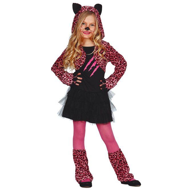 Disfraz de Pink Paws Leopard para niña