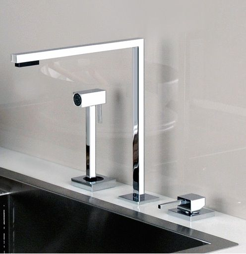 Simplicity and sleek design the minimo kitchen faucet by gessi