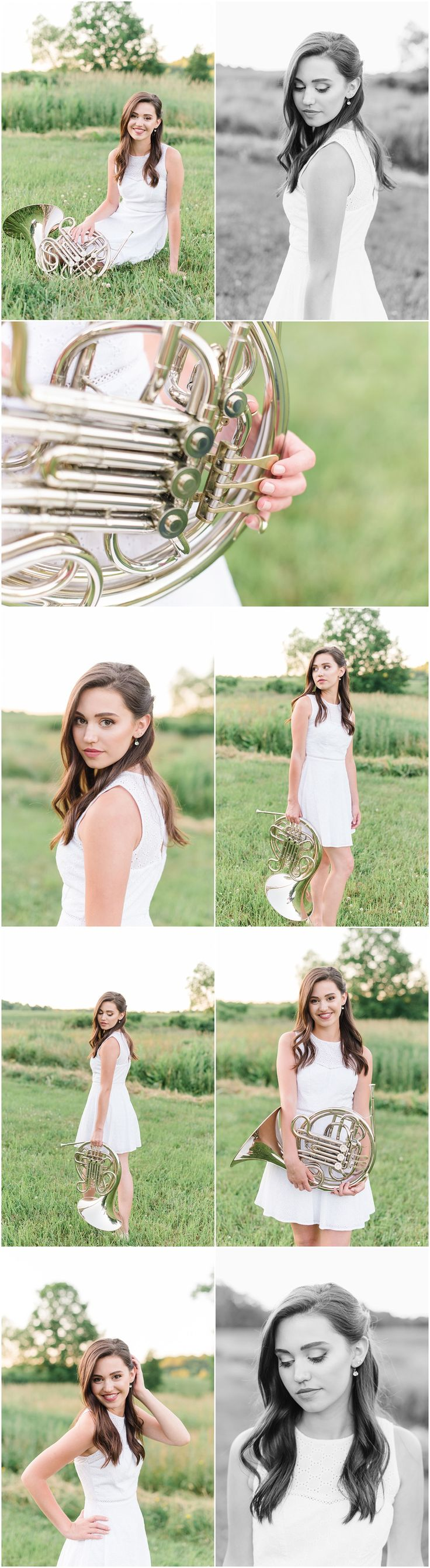 Modern Senior Pictures, French Horn – Wadsworth, OH Senior Photographer…