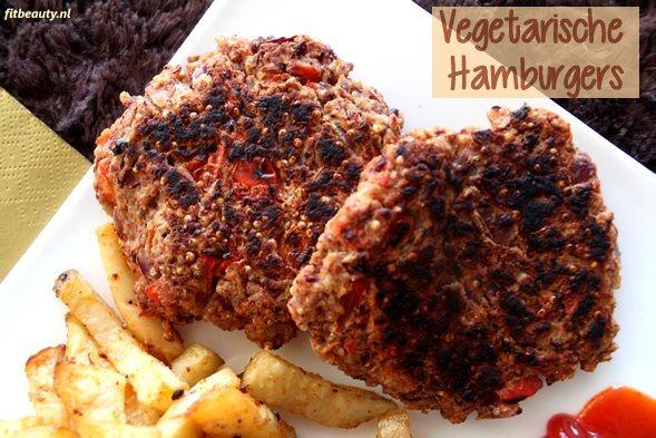 Recept: (Vegetarische) Hamburgers met patat, maar dan gezond! – Hamburger