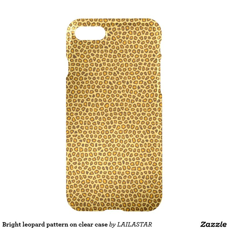 Bright leopard pattern on clear case funda para iPhone 7