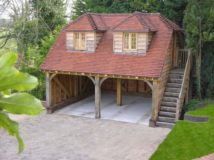 Best 25 bbq hut ideas on pinterest bbq area garden bbq for Double garage with room above