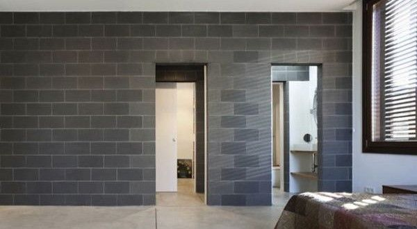 17 best ideas about cinder block walls on pinterest - Interior cinder block wall covering ...
