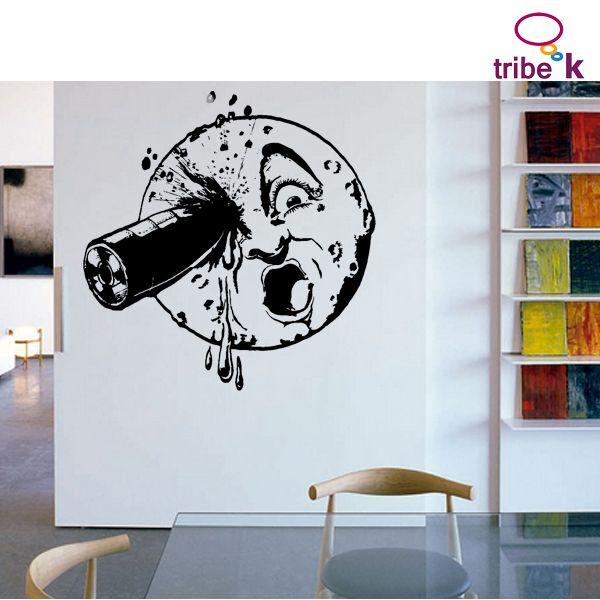 vinilo decorativo LUNA DE MELIES exclusivo en www.tiendatribek.com