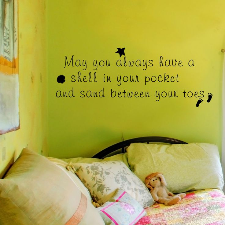 Sea Beach wall decal Shell in your pocket qoute Vinyl Art sticker Holiday Gift