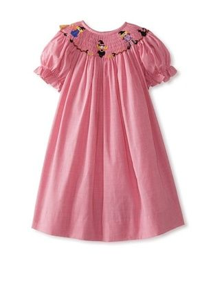 57% OFF Vive La Fete Kid's Witches Smocked Dress (Hot Pink)