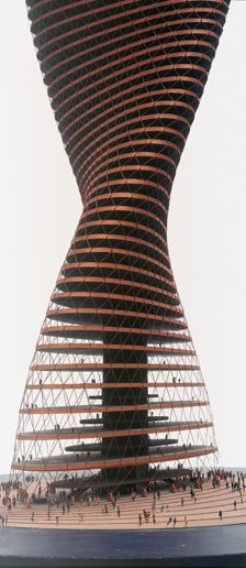 Spiral-Skyscraper, Model 1963/64, Conrad Roland (224×516)