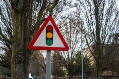 Traffic Sign: Traffic Light Royalty Free Stock Photos
