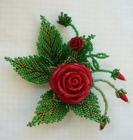 """Брошь """"Сад роз"""""""