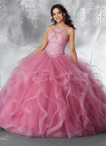 b1ce6733da Sleeveless Ruffled Quinceanera Dress by Mori Lee Vizcaya 89194 in ...