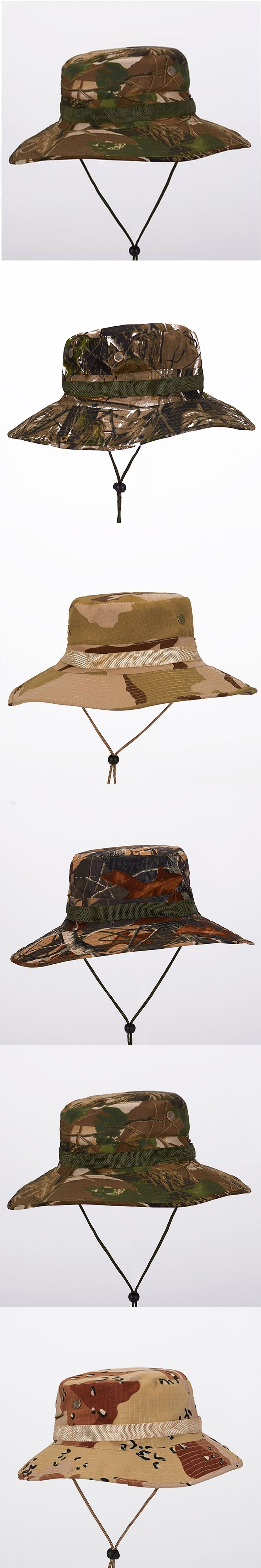 Fisherman Men forest camouflage Sun Hat Climbing cap fishing hat Spring Summer Bucket Hat Camouflage cap Army hat Basin cap male