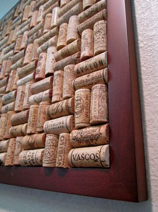 Pinboard of wine corks - display your refined taste for wine along with your favorite memorabilia.