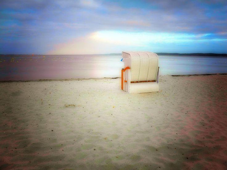 Strandkorb Flensburger Förde nähe Glücksburg