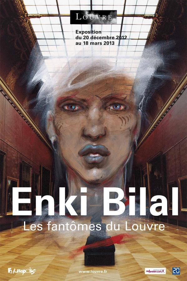 Expo Enki BILAL Les fantômes du Louvre du 20 décembre au 18 mars 2013, Paris, Musée du Louvre
