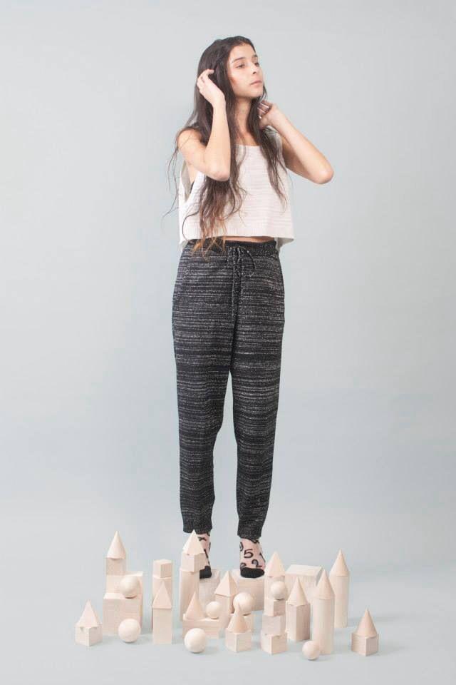Read between the lines (white) crop top. Read between the lines (black) trouser.