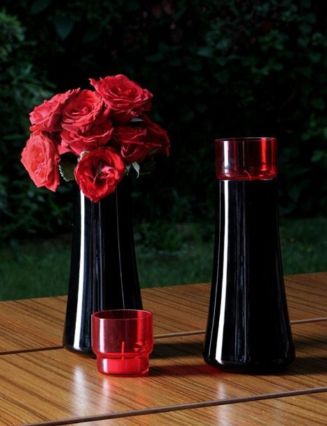 Koleksiyon Lal Siyah Vazo & Mumluk / Black Vase & Candle Holder http://alwaysfashion.com/p/1316/lal-siyah-vazo-mumluk