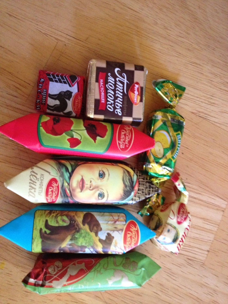 some of my favorite Russian chocolate candies :)