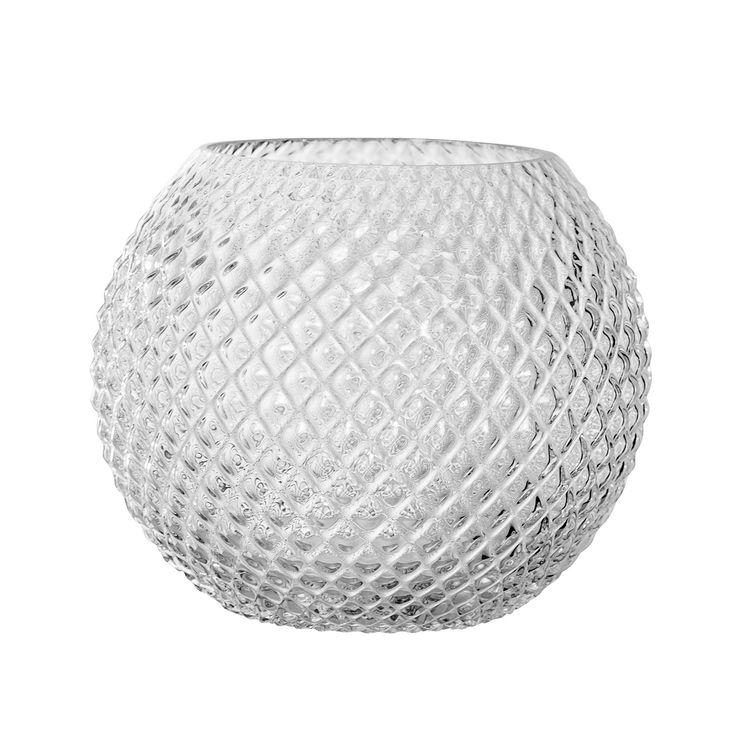 Glas rund vase L, klar i gruppen Inredningsdetaljer / Dekorasjon / Vaser & Potter hos ROOM21.no (1028674)
