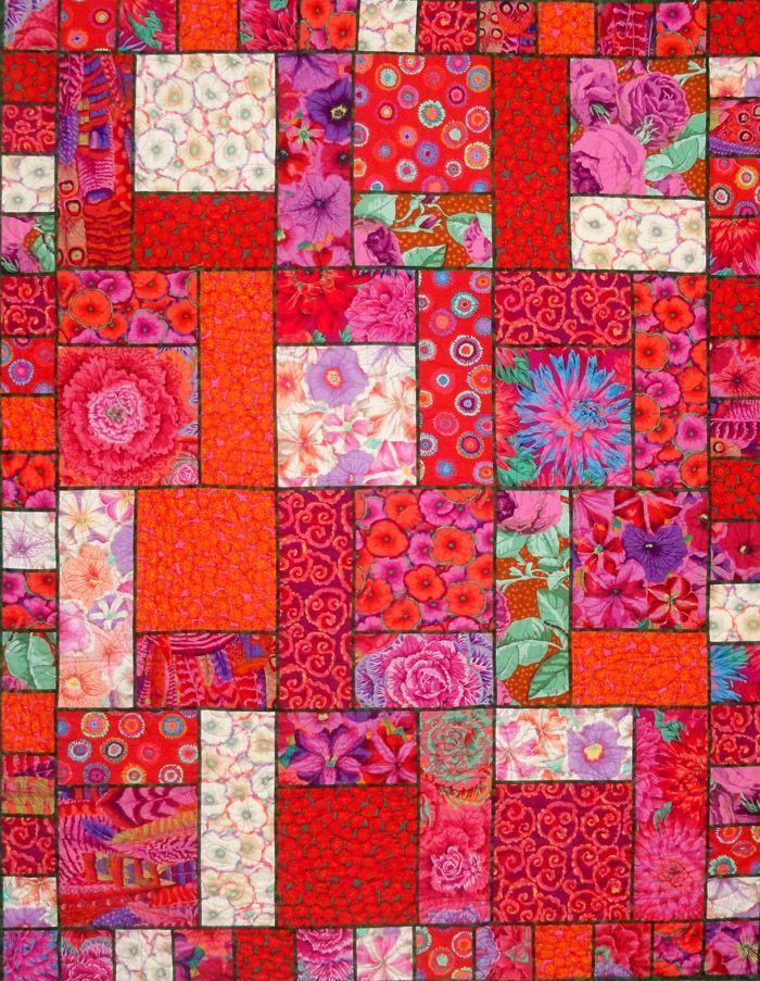 Modern Quilt Patterns | Modern Pop Quilt Pattern SLM-108 (advanced beginner, lap and throw)