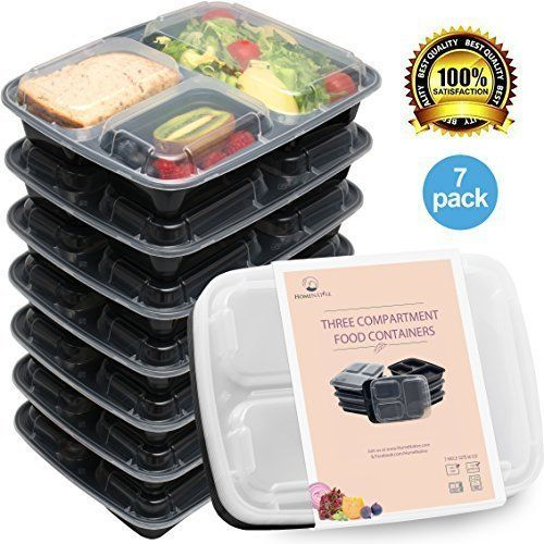 Home Native Meal 3 Compartment Food Containers 7 pc Set BPA free FDA Approved #HomeNative