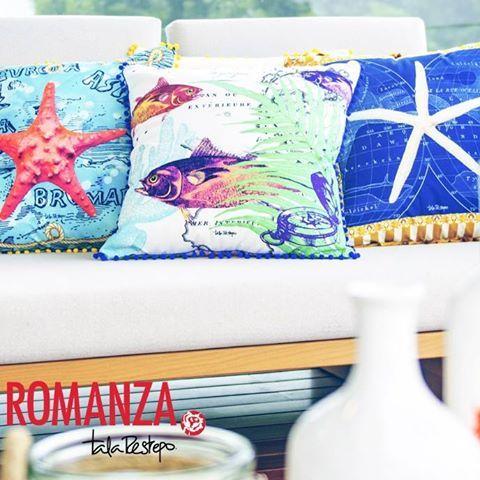 En #Romanza estamos seguros de que nuestra #NuevaColeccion te encantará... Pronto más de nuestro productos inspirados en lo marino. #Cojines #EstrellaDeMar #Espacios #Decoracion #SailorStyle #LivingRoom #Furniture #Navy