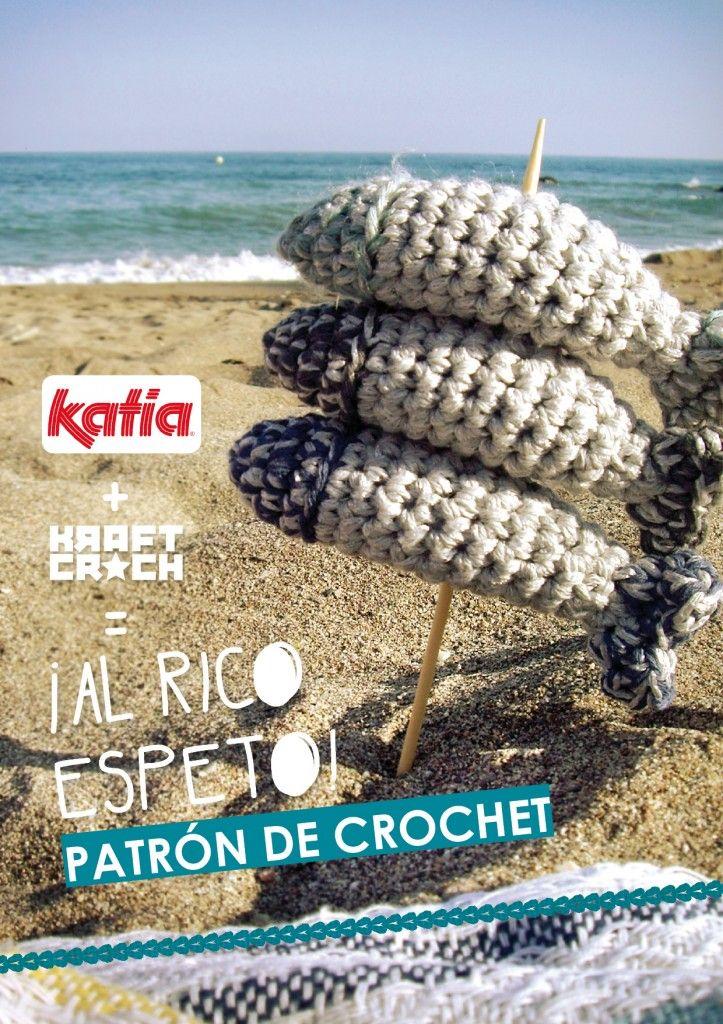 Sardinas Amigurumi - Patrón Gratis en Español aquí: http://www.katia.com/blog/es/2013/09/13/craft-lovers-%E2%99%A5-10/
