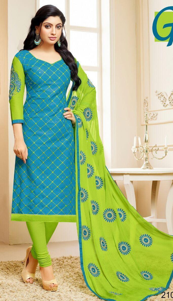 Baabul Cotton work dress material (8 pc catalog)  Dress