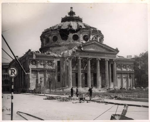 Bucuresti - Ateneul Român 1944 bombardat