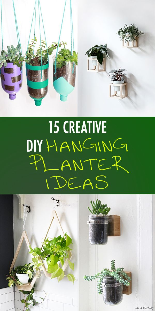 15 Creative Diy Hanging Planter Ideas For Indoors And Outdoors Diy Hanging Planter Diy Hanging Hanging Planters