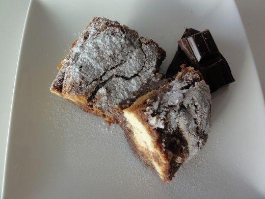 Brownies met roomkaas-baileys vulling