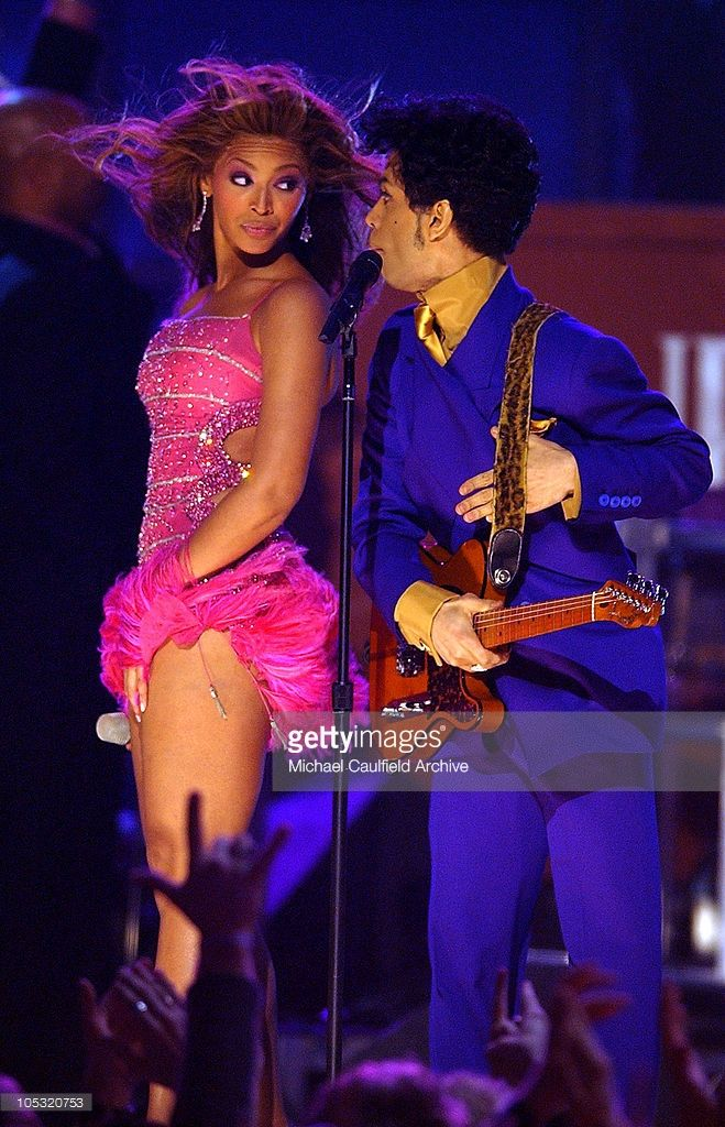 Beyonce and Prince perform a medley of his hits during The 46th Annual GRAMMY Awards - Show at Staples Center in Los Angeles, California, United States.