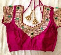 embroidery work blouse designs – Page 3 – BacklessBlouse.com