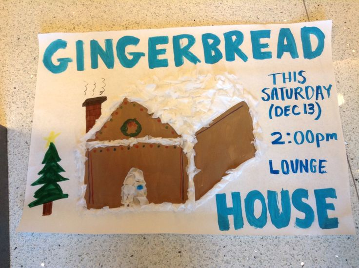 Event Poster Make Your Own Gingerbread House