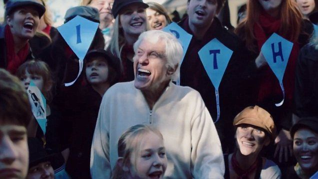 Happy 90th Birthday! Dick Van Dyke celebrates milestone with flash mob of chimney sweeps in Los Angeles.