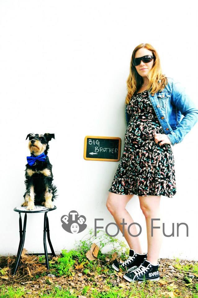 Emma & Baxter big brother dog