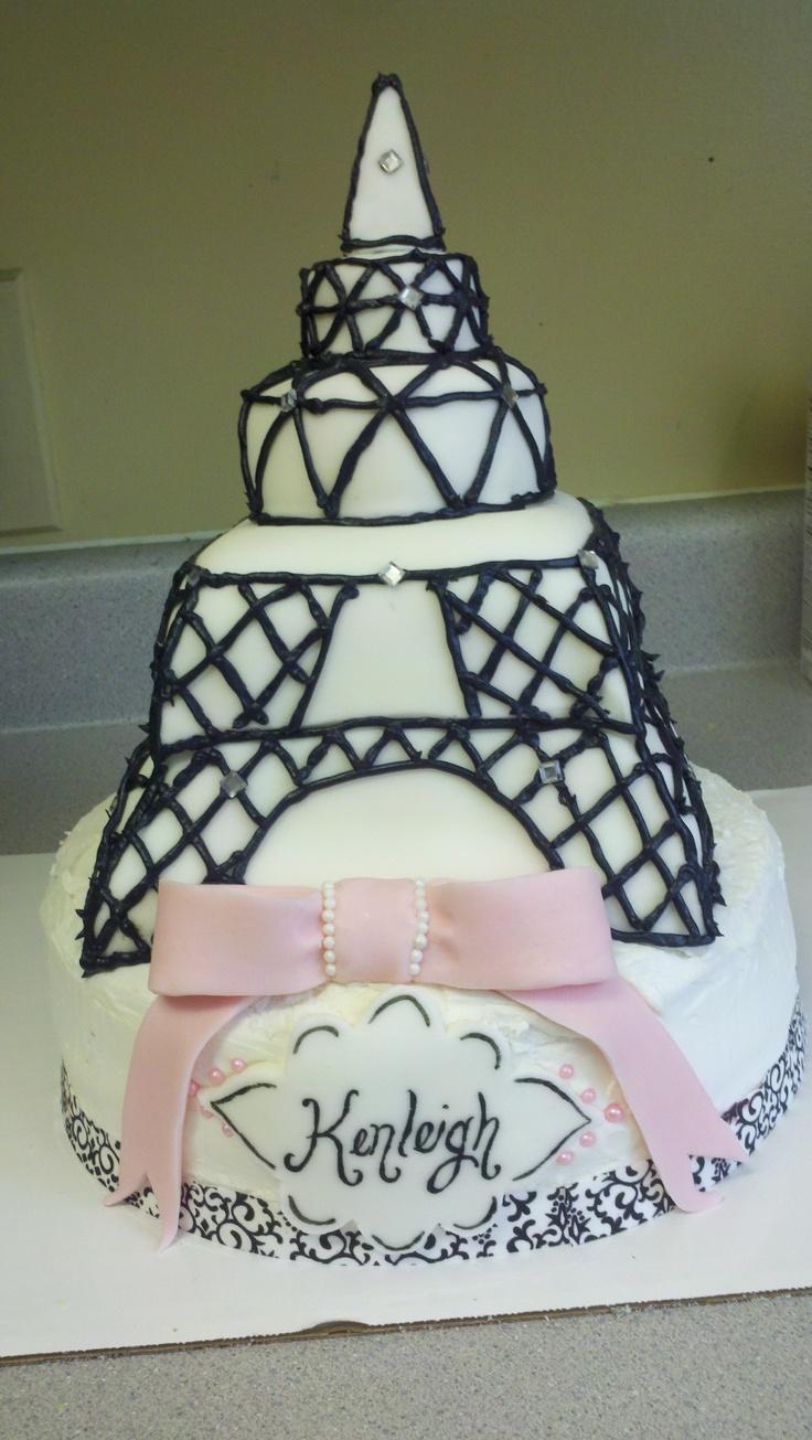 Oh La La~ Paris Theme Babyshower Cake For Kendall Jones.
