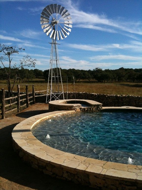 Oh yeah love the windmill next to the pool