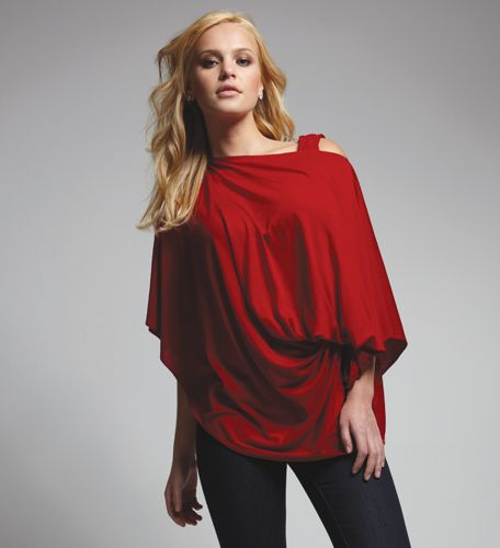 This is the coolest thing I have ever seen! The Bina Wrap- it can be worn as a tunic, poncho, blouse, front or back wrap, scarf, shrug, stole, or turtleneck! A must buy with Xmas money!!